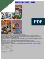 Colección de Comics Dc 1963 - 1986
