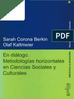 Sarah Corona Berkin - En Diálogo. Metodologías Horizontales en Ciencias Sociales y Culturales