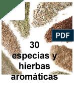 30 Especias y Hierbas Aromáticas