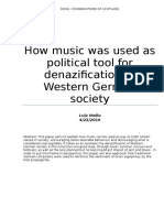 How music was used as political tool for denazification of Western German Society