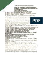 50 toefl independent speaking questions