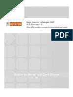 Optaros Open Source Catalog 2007 v1 1