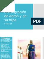 EXODO 29 LA CONSAGRACION DE AARON Y SUS HIJOS
