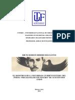 Un Breve Estudo Del Poema Psicologia de Um Vencido de Augusto Dos Anjos
