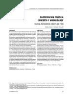 Participación Política Concepto y Modalidades Gisela y Zubieta