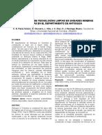 Paper. Incorporación de Tecnologías Limpias en Unidades Mineras Ubicadas en El Departamento de Antioquia
