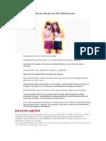 Características Afectivas Del Adolescente