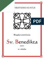 Sv. Benedikt Preminuće Misa