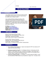 Nick Walters Resume - March 2017