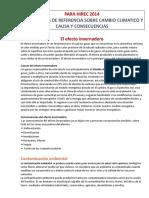 CAMBIO CLIMATICO Causas y Consecuencia