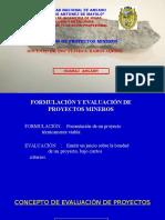1. Formulación y Evaluación de Proyectos Mineros