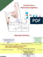 Reacciones Química Orgánica Generalidades