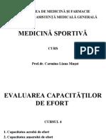 Evaluarea Capacitatilor de Efort La Sportivi