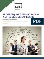 Administracion y Direccion de Empresas
