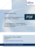 Infineon - Tailored ESD Protection for Various Electronic Interfaces Application Note AN248