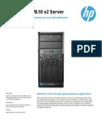 HP Proliant ML10 v2 Datasheet