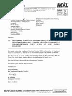 Meghmani Finechem Ltd (MFL) Subsidiary of Meghmani Organics Ltd (MOL) plans to set up DICHLORO Chlormethane (CMS) Project at GIDC Dahej [Company Update]