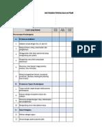 Instrumen Supervisi Perencanaan Dan Pelaksanaan Pembelajaran 1,Telaah RPP