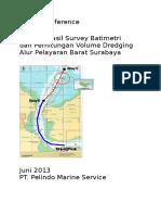 Term of Reference Analisa Hasil Survey Batimetri PMS