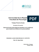 Intervenciones Psicológicas Basadas en La Evidencia. Lourdes Machado
