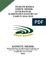 Cover Dan Daftar Isi Program Kerja Komite Medik Tahun 2016