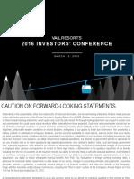 2016 Investor Presentation VFINAL