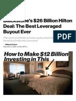 Blackstone's Hilton Deal