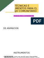 Técnicas e Instrumentos Para El Trabajo Comunitario