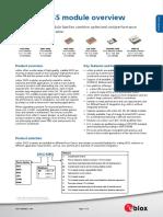 GNSS Module Selector Overview (UBX 14000426)