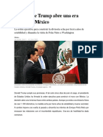El Muro de Trump Abre Una Era Hostil Con México