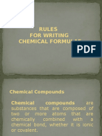 Rules in Writing Chemical Formula