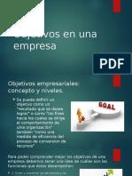 Objetivos en Una Empresa