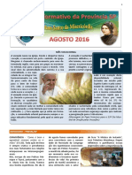 Informativo de Agosto 2016 IASCJ