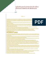 Dispositivos Empleados Para La Protección de Redes y Equipos Que Conforman El Sistema de Distribución Primaria