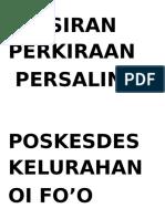 TAFSIRAN PERKIRAAN