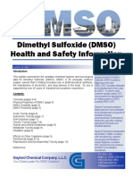 DMSO Health and Safety Information