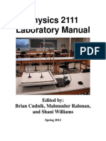 Physics 2111 Lab Manual 8.3E