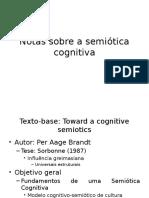 Notas Sobre a Semiótica Cognitiva