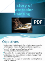 History of Watercolor