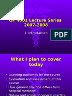 GP 4001 Lecture 1