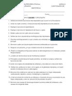 Cuestionario de Obstetricia