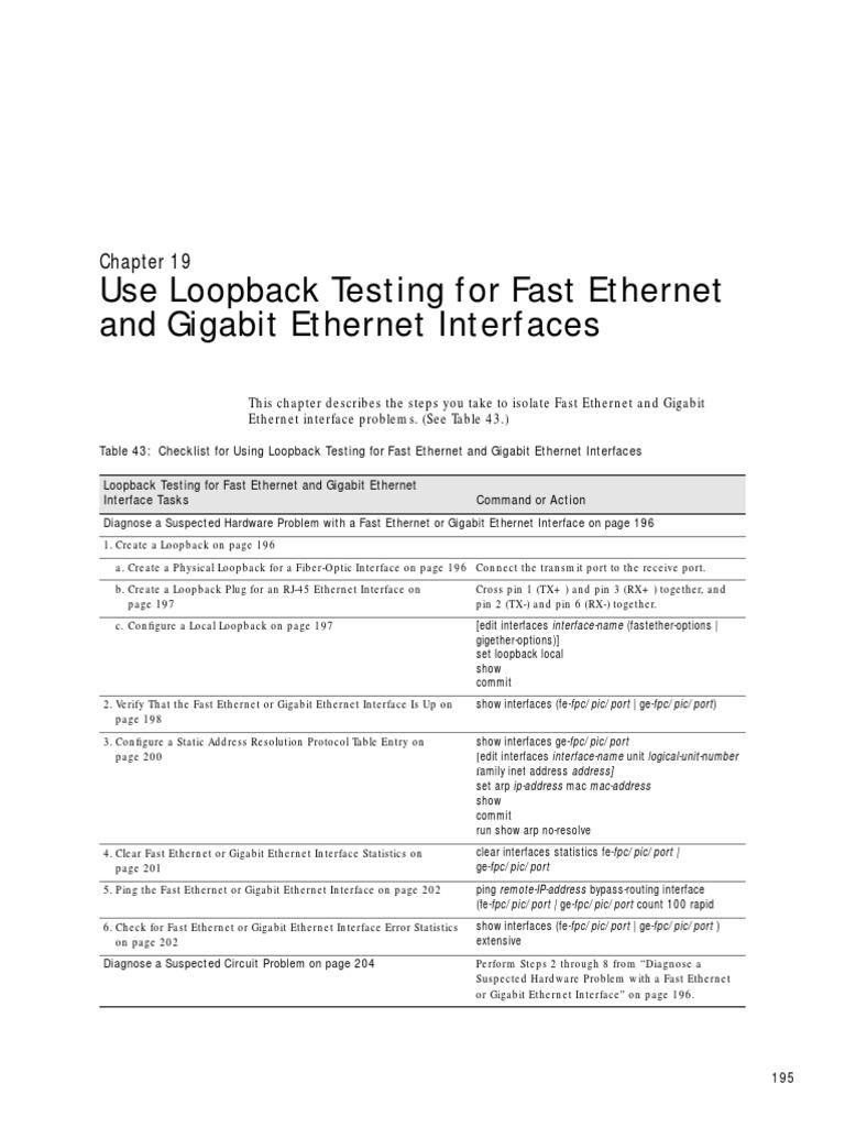 Teste ethernet loopbackpdf ethernet computer standards sciox Images