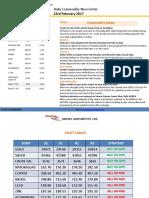 Ripples Advisory Daily Commodity Report 23-Feb 2017