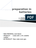 Coke Preparation in Batteries