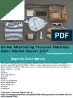 Global Alternating Pressure Mattress Sales Market Report 2017