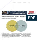 Liquidity and Solvency