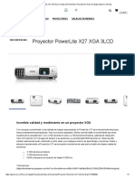 Proyector PowerLite X27 XGA 3LCD