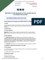 Codex Standards for Fats &Oils
