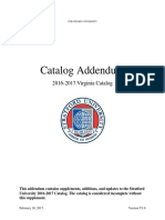 Catalog Addendum Virginia 2016-17 - Stratford University