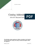 Catalog Addendum Maryland 2016-17 - Stratford University